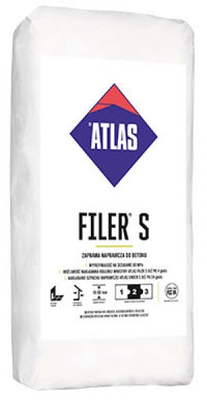 ATLAS FILER S - repair mortar for concrete, thickness 10-50 mm