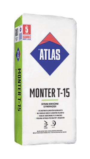 ATLAS MONTER T-15 - fast setting assembly mortar